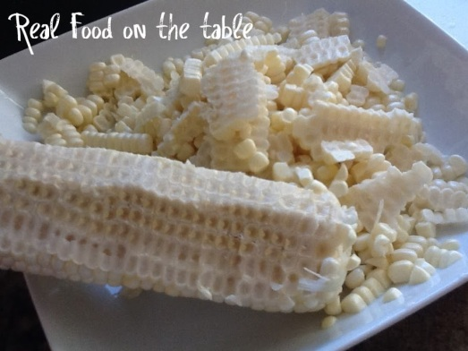 salmon corn cob