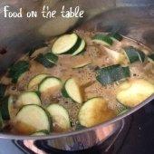zucchini soup simmer