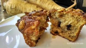 Parsnip Pistachio Muffins